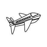 Avion Jet Isolated Images libres de droits