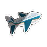 Avion Jet Isolated Image stock