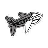 Avion Jet Isolated Photo stock