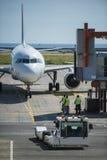 Avion juste débarqué Images libres de droits