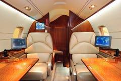 Avion luxueux d'avion à réaction photographie stock