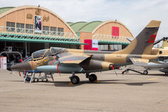 Avion marocain royal de Dassault Alpha Jet de l'Armée de l'Air Image libre de droits