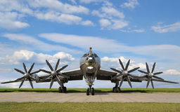 Avion militaire de bombardier images libres de droits