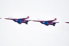 Avion militaire su 27 Image stock