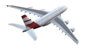 Avion moderne de passager d'isolement Photographie stock libre de droits