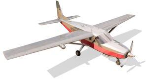Avion monomoteur léger. D'isolement sur un blanc. Photos libres de droits