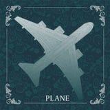 Avion, peinture décorative Illustration de Vecteur