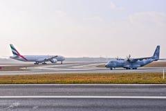 Avion polonais de l'Armée de l'Air photographie stock libre de droits