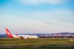Avion prêt à décoller Image libre de droits