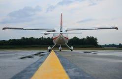 Avion prêt au décollage Image libre de droits