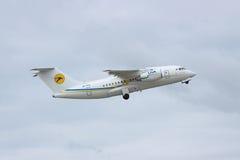Avion régional d'Antonov An-148 Photographie stock libre de droits