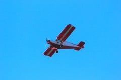 Avion rouge Photos libres de droits