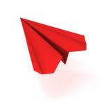 Avion rouge d'origami de VECTEUR Photographie stock libre de droits