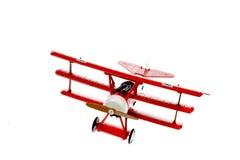 Avion rouge de jouet Images libres de droits