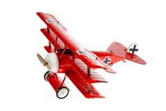 Avion rouge de jouet Image libre de droits