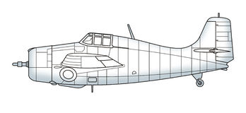 Avion sauvage de vintage de F4F Images libres de droits