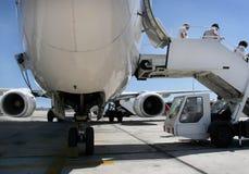 Avion stationné images libres de droits