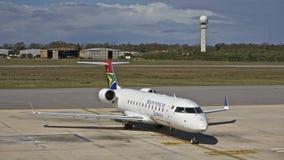 Avion sud-africain de compagnie aérienne images libres de droits