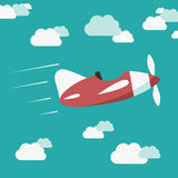 Avion téléguidé en ciel illustration de vecteur