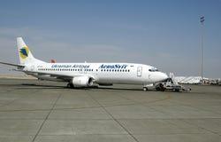 Avion ukrainien dans l'aéroport de Hurghada Égypte Image libre de droits