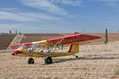 Avion ultra-léger avec la vallée de Jezreel Photo libre de droits