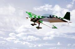 Avion vert d'arrêt Images libres de droits