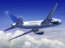 Avion volant haut Photographie stock