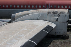 Aviones abandonados viejos en Chiang Mai, Tailandia 4 Imagen de archivo libre de regalías