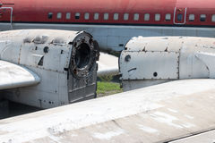 Aviones abandonados viejos en Chiang Mai, Tailandia 7 fotografía de archivo