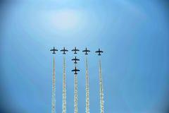 Aviones aeroacrobacias imágenes de archivo libres de regalías