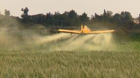Aviones Aviones amarillos de la agricultura, plumero de la cosecha con el sonido almacen de video