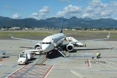 Aviones Boeing 737-800 de Ryanair Imagen de archivo