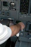 Aviones cockpit6 Fotos de archivo libres de regalías
