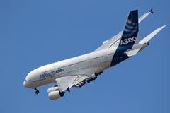 Aviones de Airbus A380 Imagen de archivo libre de regalías