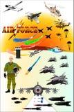 Aviones de Airforce& Fotos de archivo
