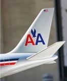 Aviones de American Airlines Imagen de archivo libre de regalías