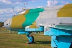 Aviones de ataque militares acorazados soviéticos en el aeródromo El avión diseñó proporcionar el apoyo aéreo cercano para las tr Foto de archivo