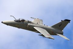 Aviones de ataque de tierra internacionales italianos de Aeronautica Militare Italiana AMX AMX A-11 de la fuerza aérea MM7115 imagenes de archivo