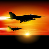 Aviones de combate Fotos de archivo libres de regalías