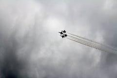 Aviones de combate de los ángeles azules Imagen de archivo libre de regalías