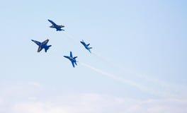 Aviones de combate del ángel azul de MARINA Foto de archivo