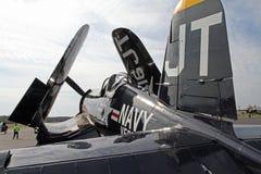 Aviones de combate del corsario de la marina de la Segunda Guerra Mundial Foto de archivo