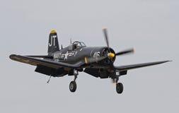Aviones de combate del corsario de la Segunda Guerra Mundial Imágenes de archivo libres de regalías