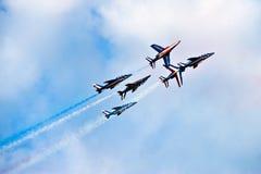 Aviones de combate durante el acrobation Fotos de archivo