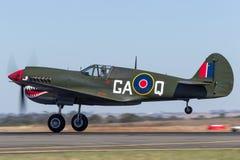 Aviones de combate de la Segunda Guerra Mundial de Curtiss P-40N Kitty Hawk VH-ZOC fotos de archivo libres de regalías