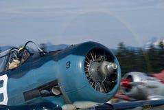 Aviones de combate T-6 Foto de archivo libre de regalías