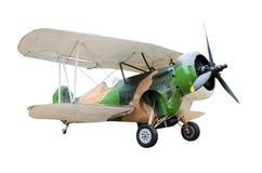 Aviones de combate viejos en el fondo blanco Fotografía de archivo