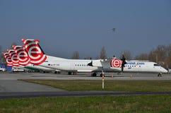 Aviones de Eurolot Foto de archivo libre de regalías