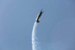 Aviones de jet en el cielo Imágenes de archivo libres de regalías