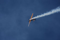 Aviones de jet en el cielo Fotografía de archivo